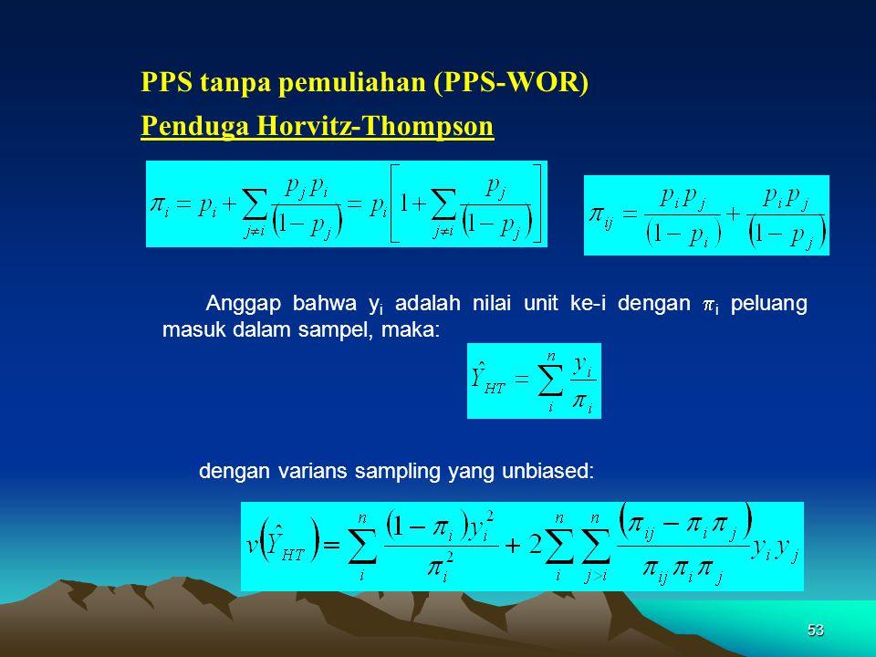 PPS tanpa pemuliahan (PPS-WOR)