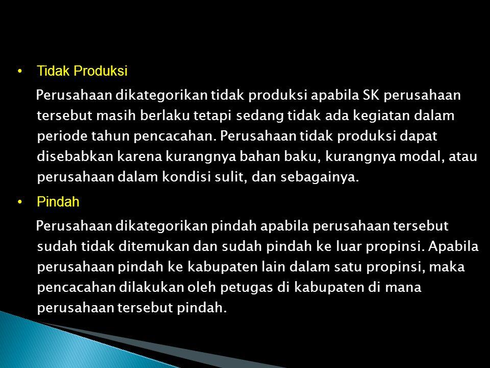 Tidak Produksi