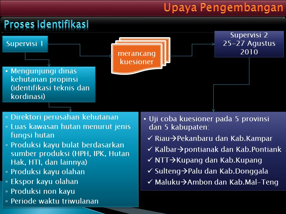 Upaya Pengembangan Proses identifikasi Supervisi 2 25-27 Agustus 2010
