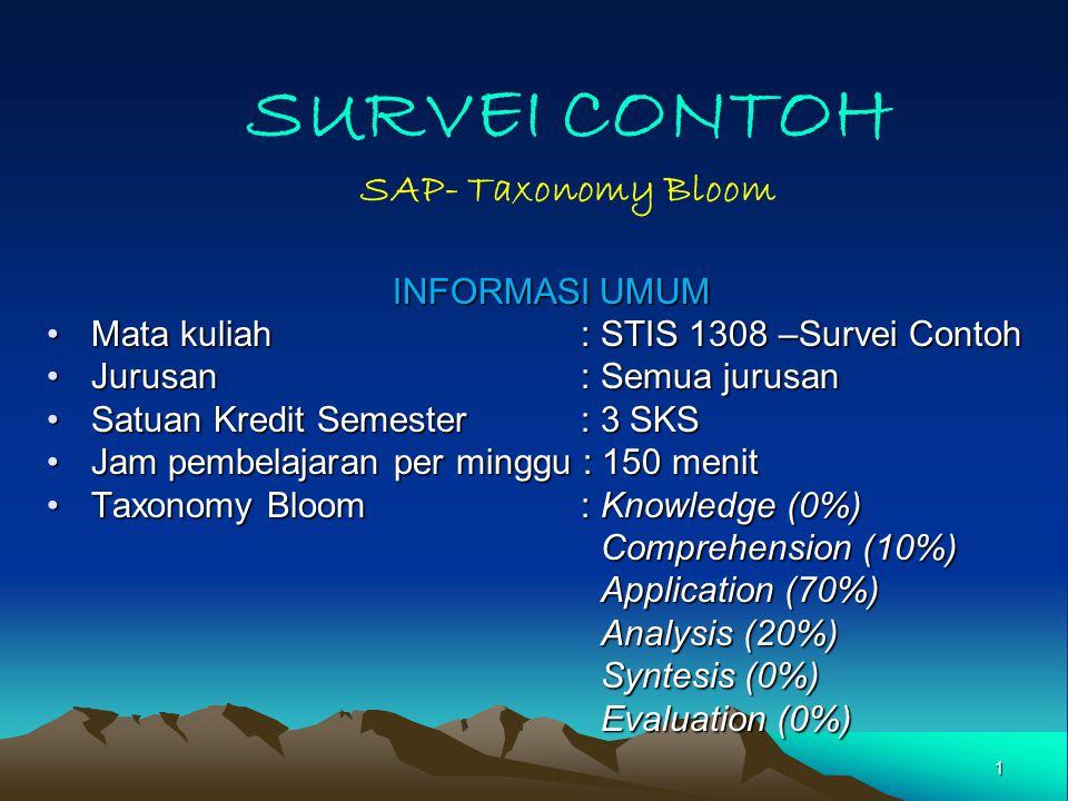 SURVEI CONTOH SAP- Taxonomy Bloom