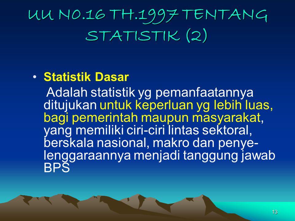 UU N0.16 TH.1997 TENTANG STATISTIK (2)