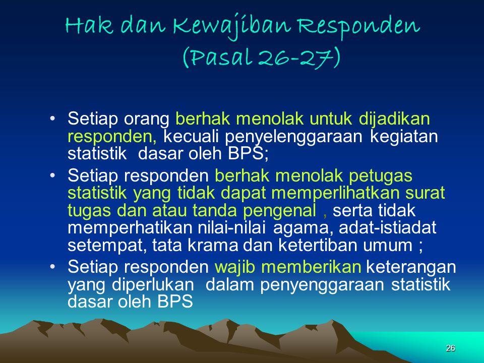 Hak dan Kewajiban Responden (Pasal 26-27)