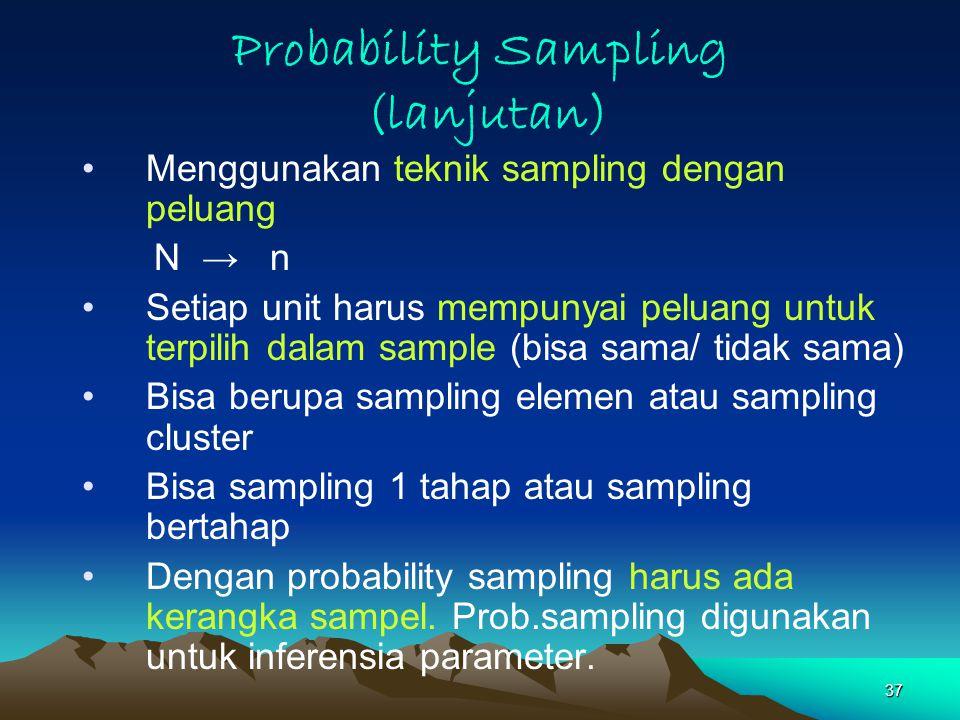 Probability Sampling (lanjutan)