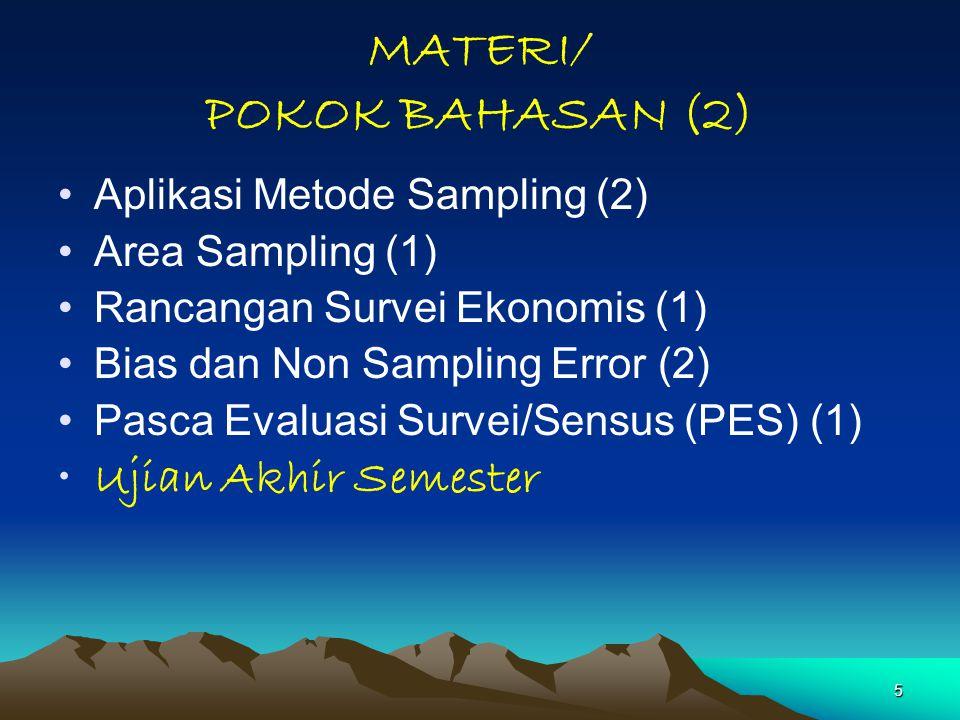 MATERI/ POKOK BAHASAN (2)