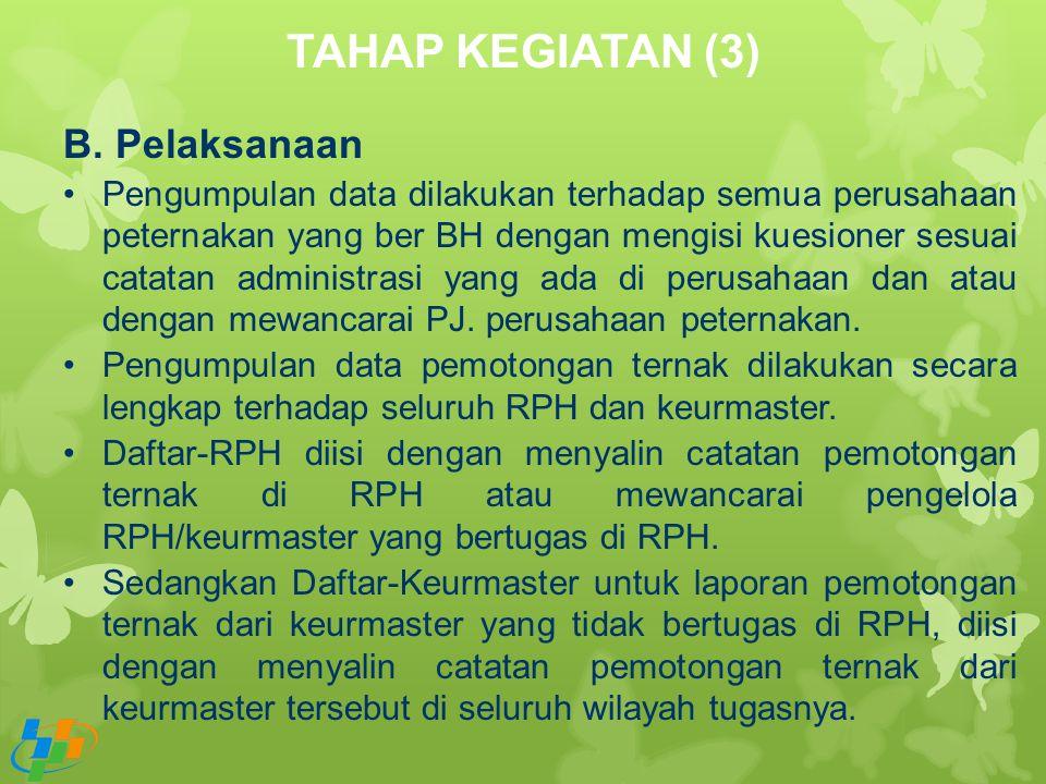 TAHAP KEGIATAN (3) Pelaksanaan