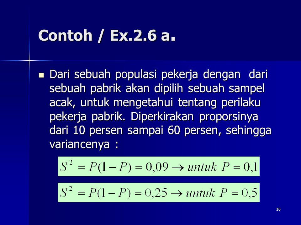 Contoh / Ex.2.6 a.