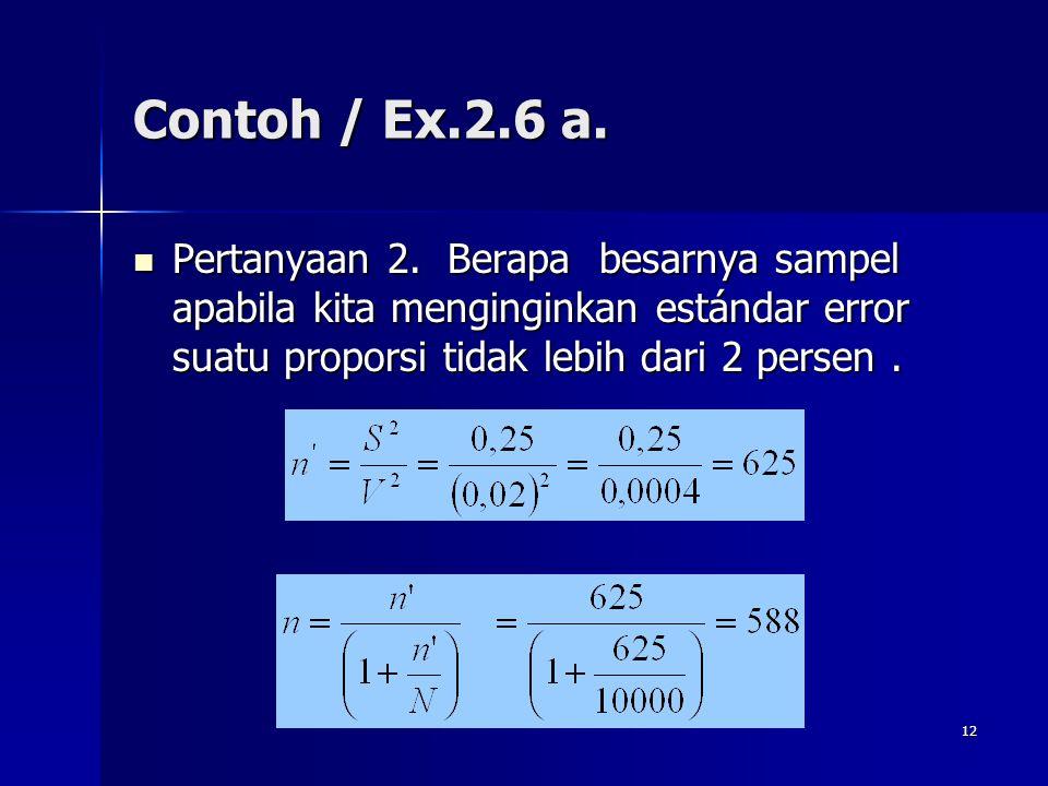 Contoh / Ex.2.6 a. Pertanyaan 2.