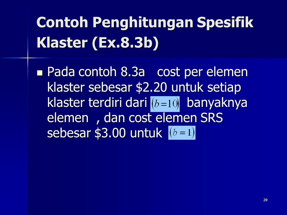 Contoh Penghitungan Spesifik Klaster (Ex.8.3b)