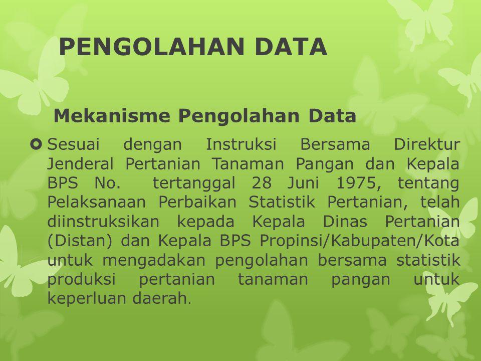PENGOLAHAN DATA Mekanisme Pengolahan Data