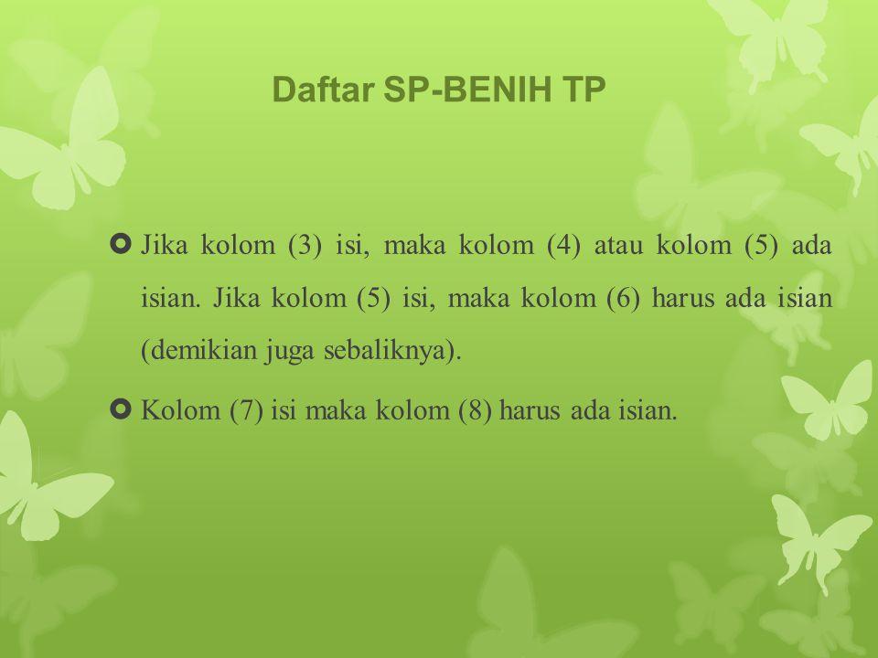 Daftar SP-BENIH TP