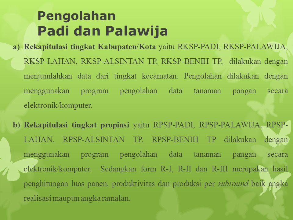 Pengolahan Padi dan Palawija