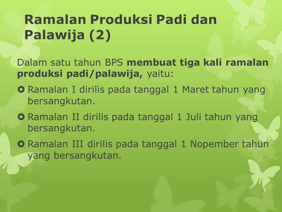 Ramalan Produksi Padi dan Palawija (2)