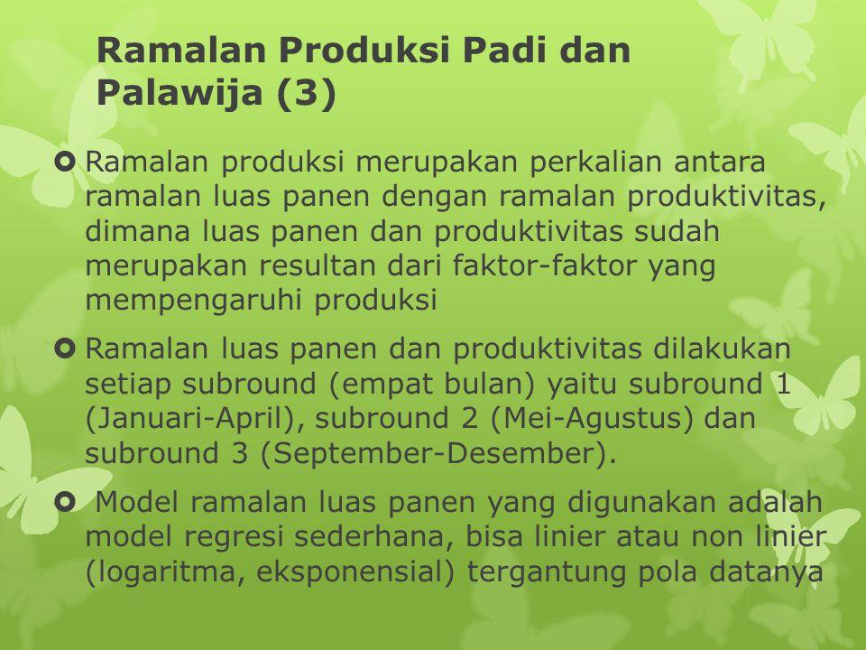 Ramalan Produksi Padi dan Palawija (3)