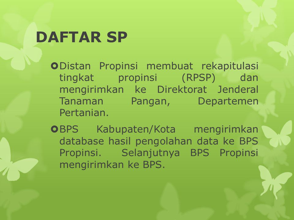 DAFTAR SP