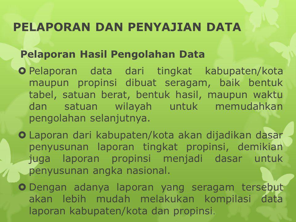 PELAPORAN DAN PENYAJIAN DATA