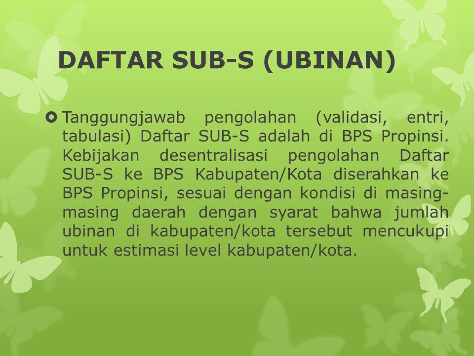 DAFTAR SUB-S (UBINAN)