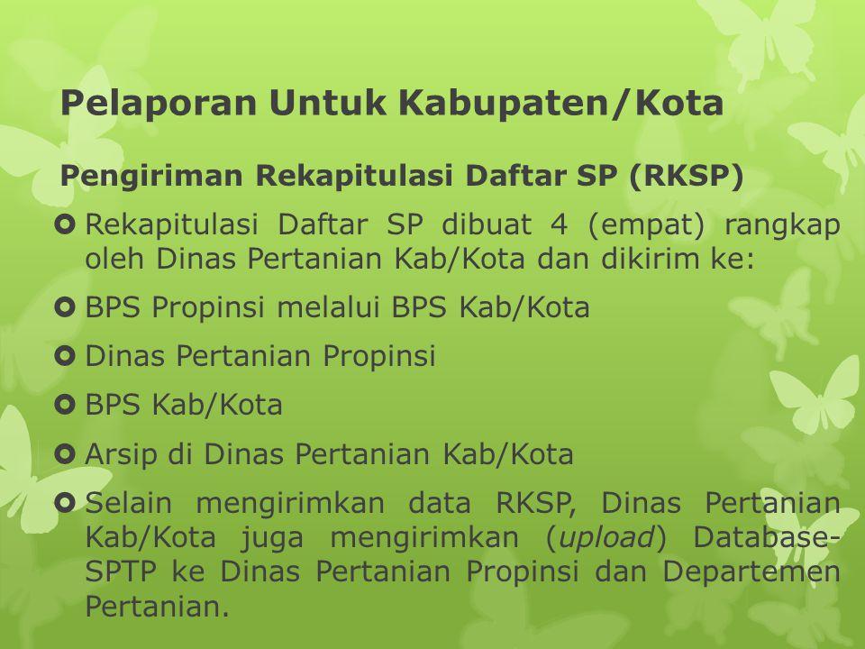 Pelaporan Untuk Kabupaten/Kota