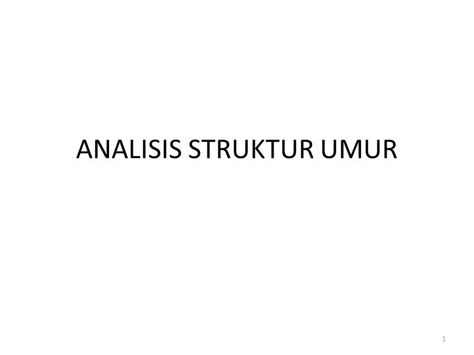ANALISIS STRUKTUR UMUR
