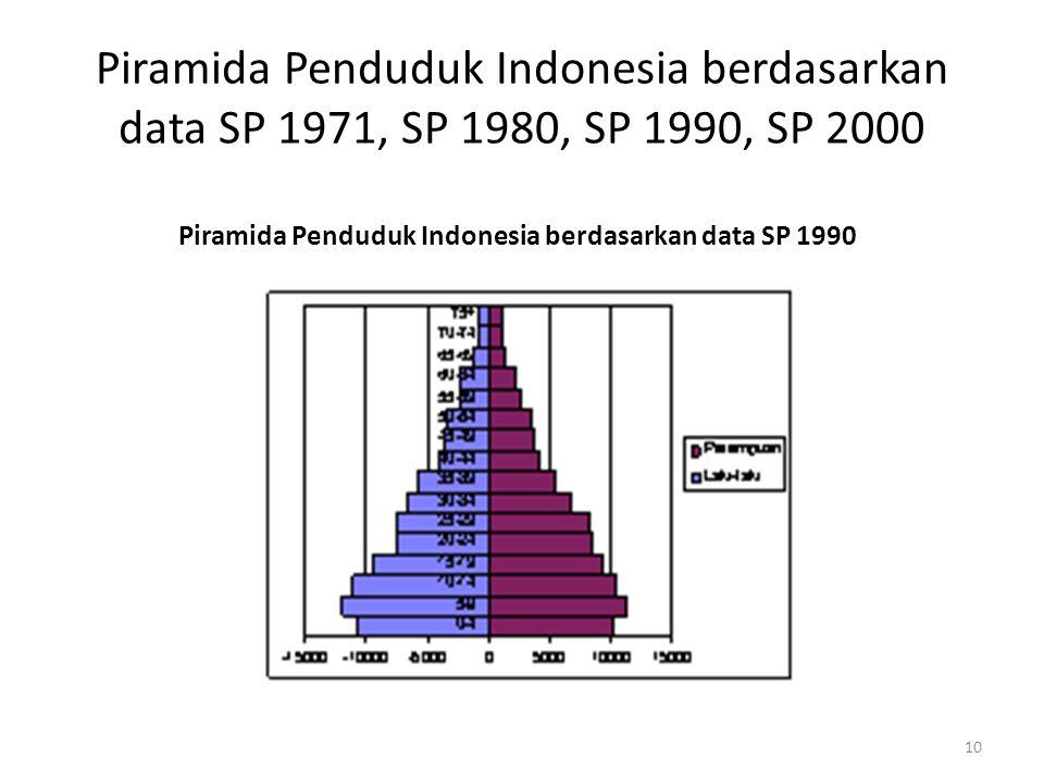 Piramida Penduduk Indonesia berdasarkan data SP 1990