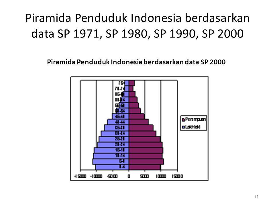 Piramida Penduduk Indonesia berdasarkan data SP 2000