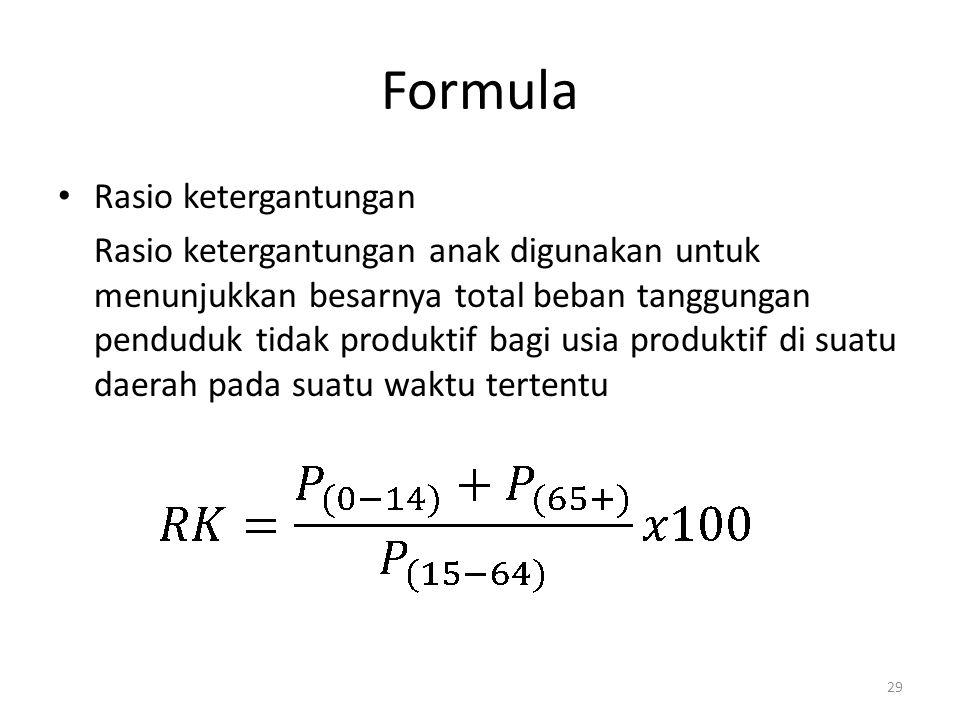 Formula Rasio ketergantungan