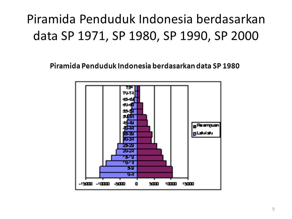 Piramida Penduduk Indonesia berdasarkan data SP 1980