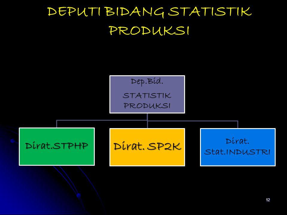 DEPUTI BIDANG STATISTIK PRODUKSI