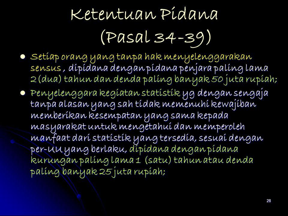 Ketentuan Pidana (Pasal 34-39)