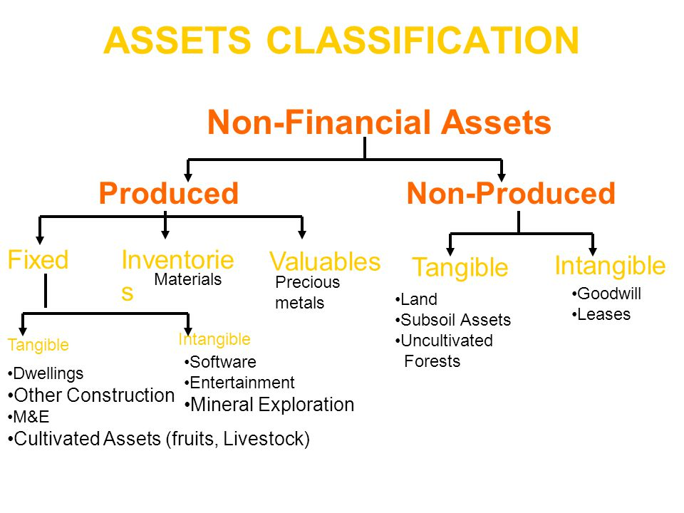 ASSETS CLASSIFICATION