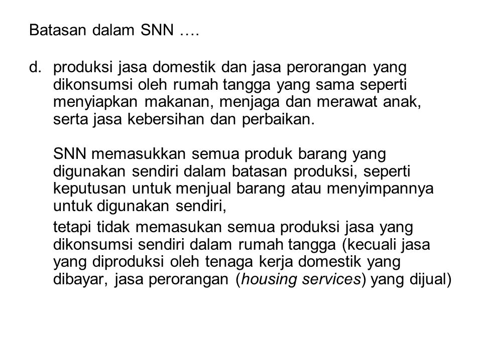 Batasan dalam SNN ….