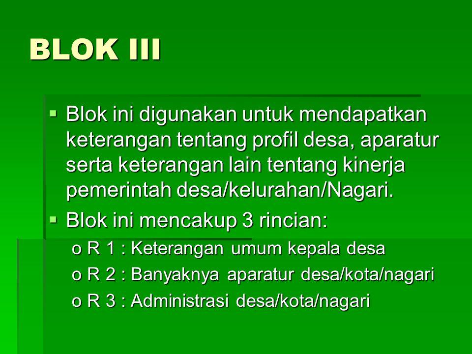 BLOK III