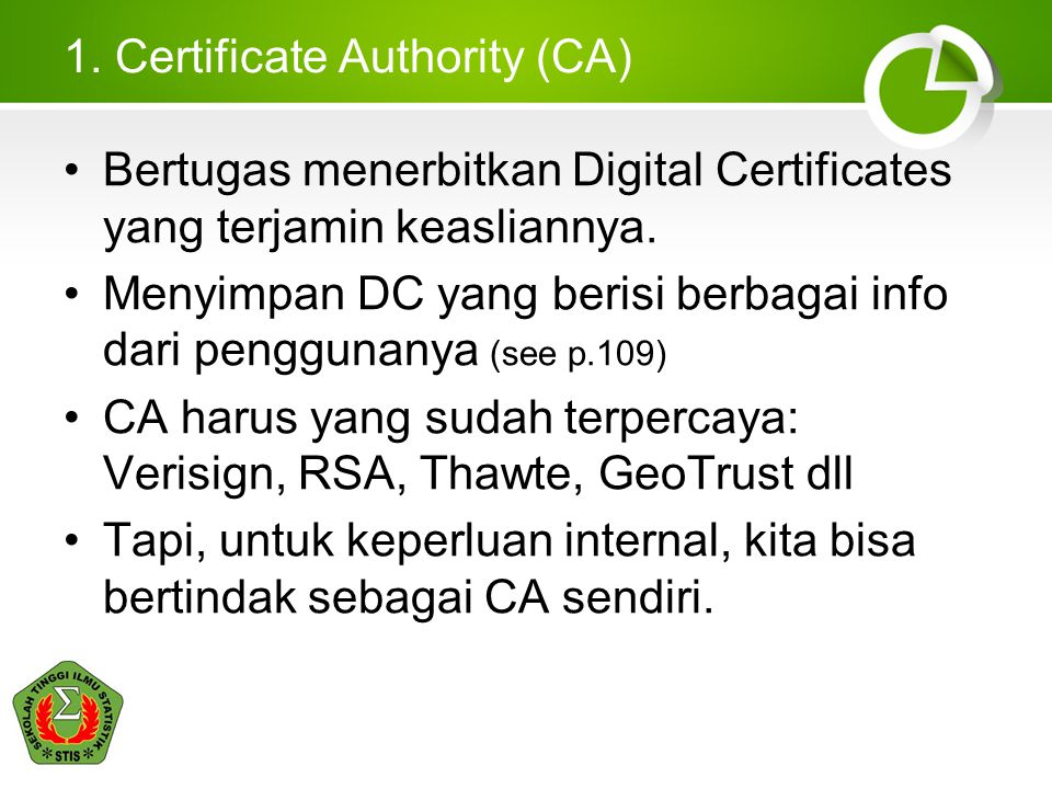 1. Certificate Authority (CA)
