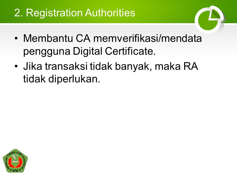 2. Registration Authorities