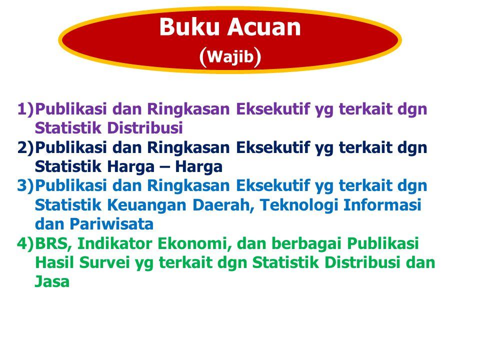 Buku Acuan (Wajib) Publikasi dan Ringkasan Eksekutif yg terkait dgn Statistik Distribusi.
