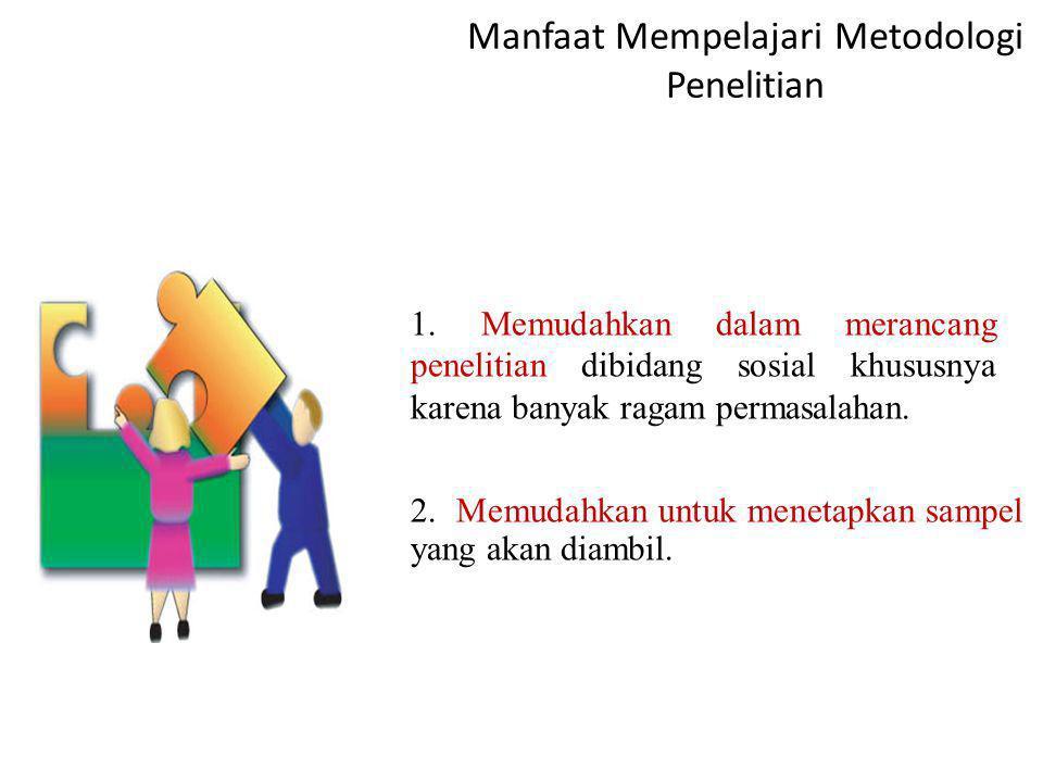 Manfaat Mempelajari Metodologi Penelitian