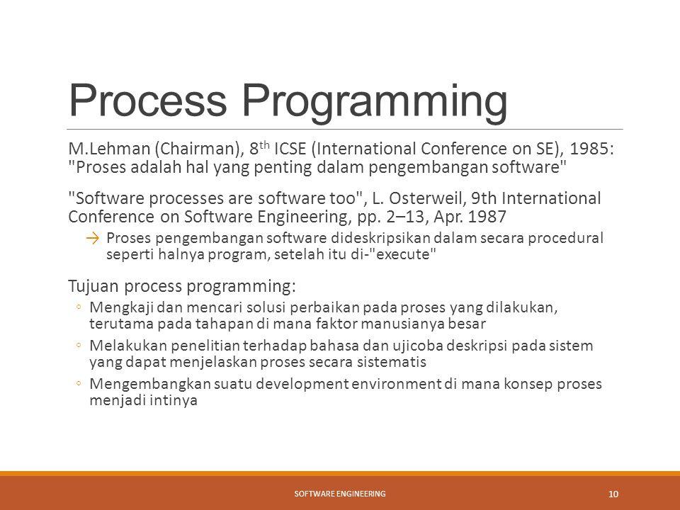 Process Programming
