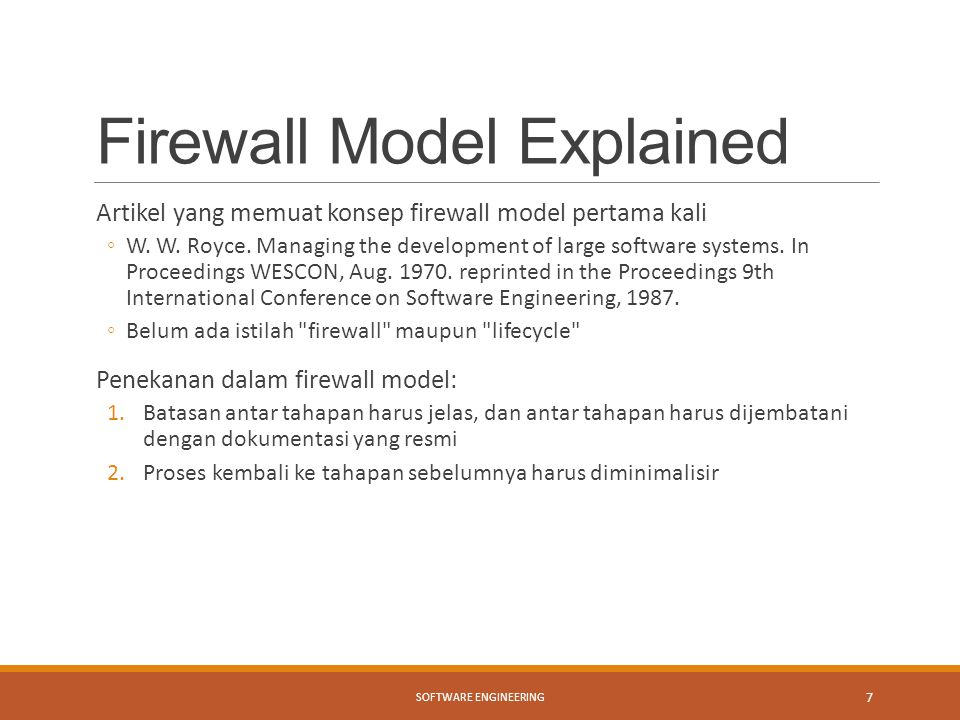 Firewall Model Explained