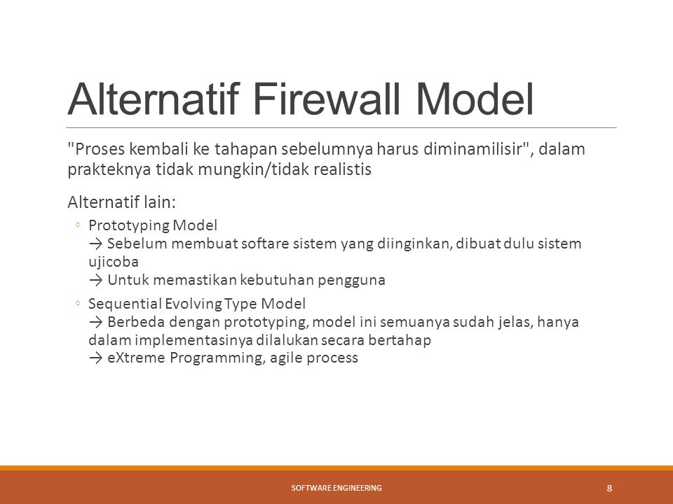 Alternatif Firewall Model