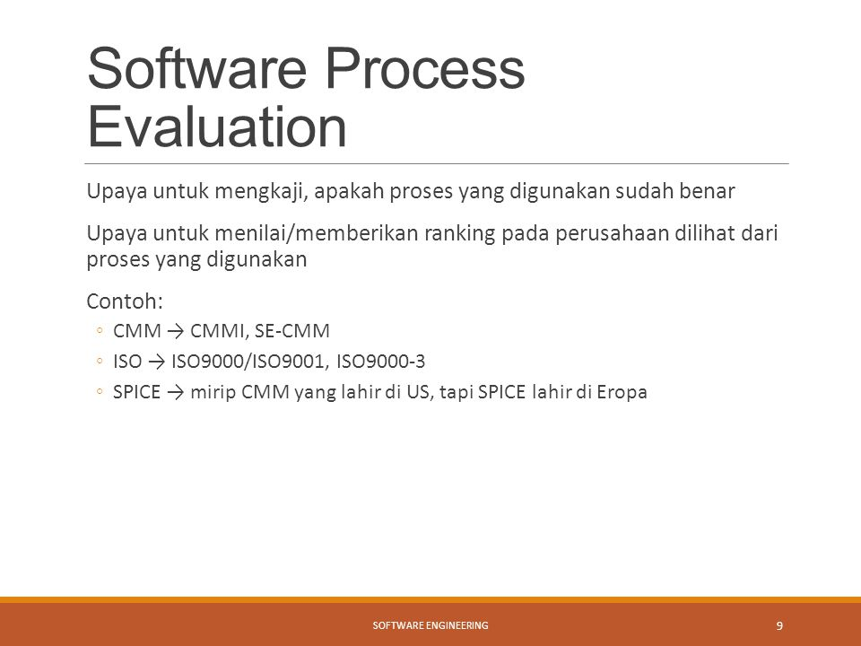 Software Process Evaluation