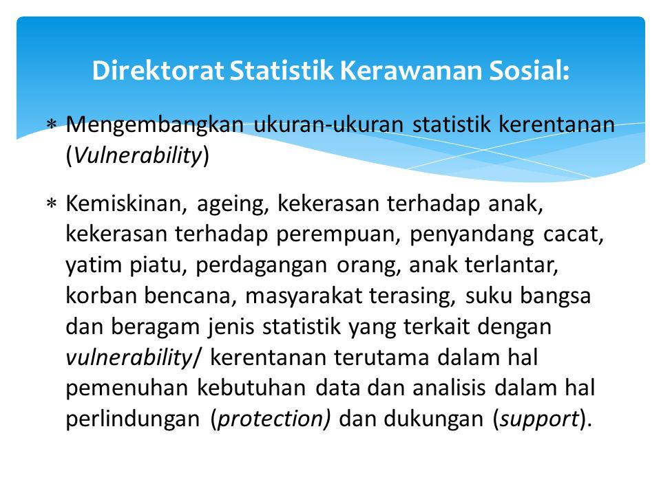 Direktorat Statistik Kerawanan Sosial: