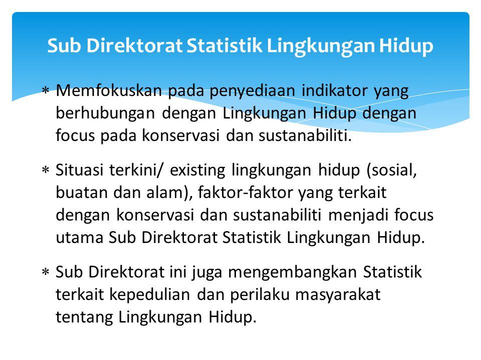 Sub Direktorat Statistik Lingkungan Hidup