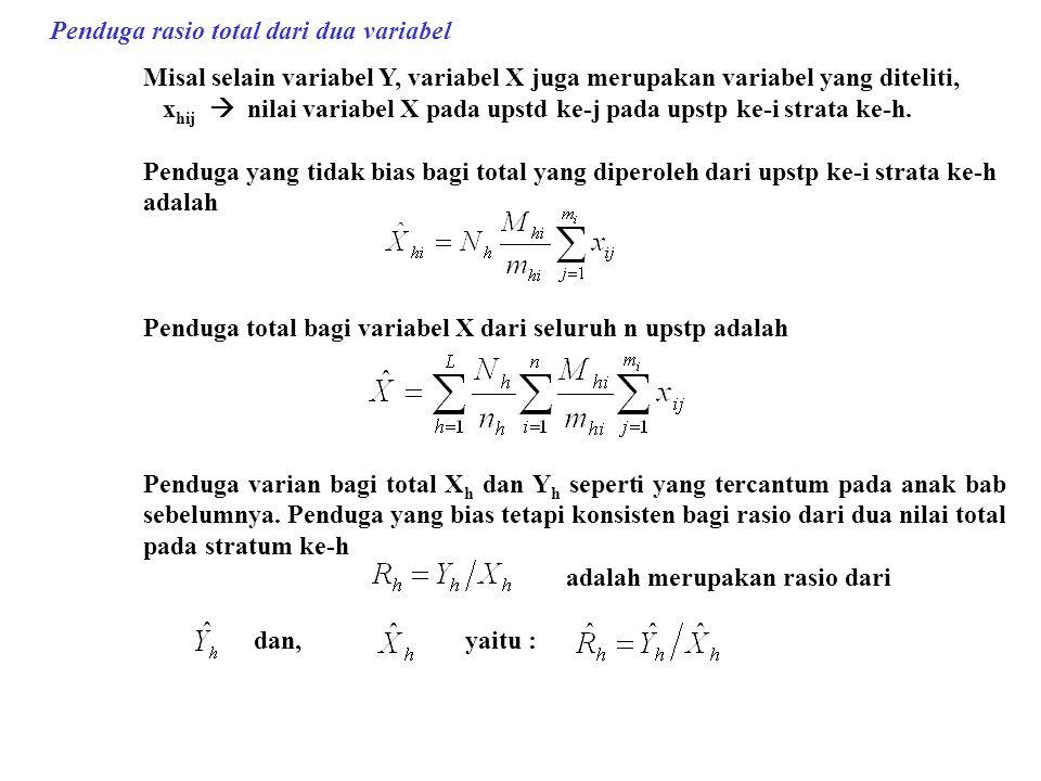 Penduga rasio total dari dua variabel