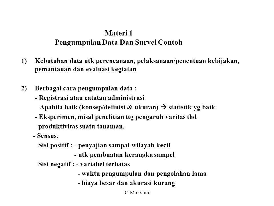 Materi 1 Pengumpulan Data Dan Survei Contoh