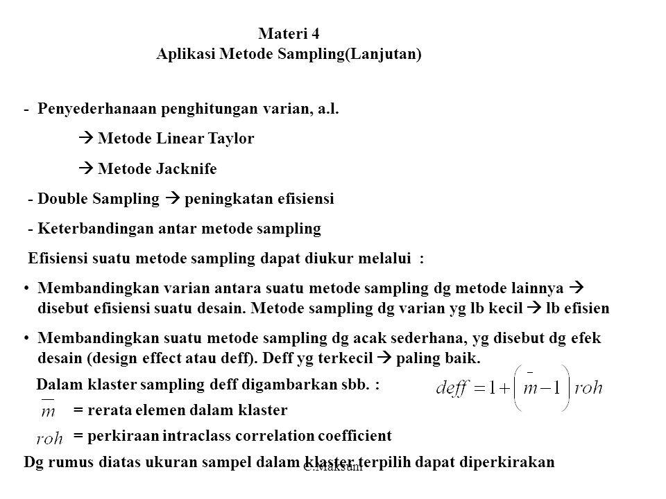 Materi 4 Aplikasi Metode Sampling(Lanjutan)