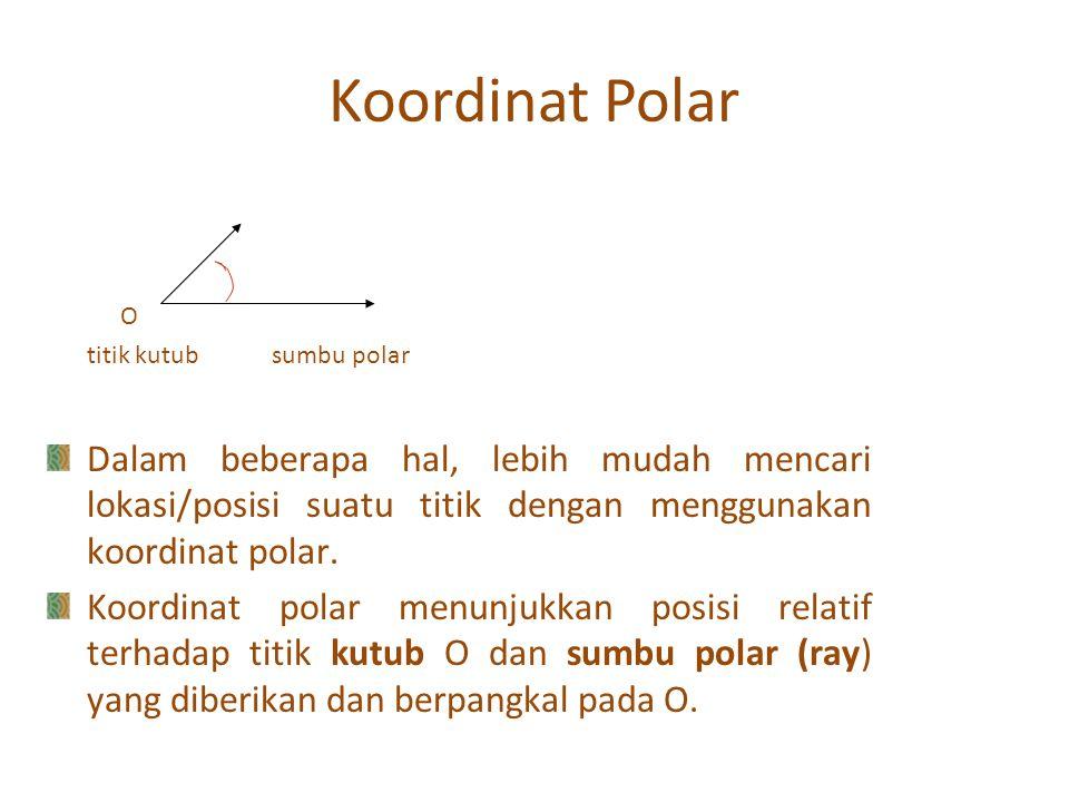 Koordinat Polar O. titik kutub sumbu polar.