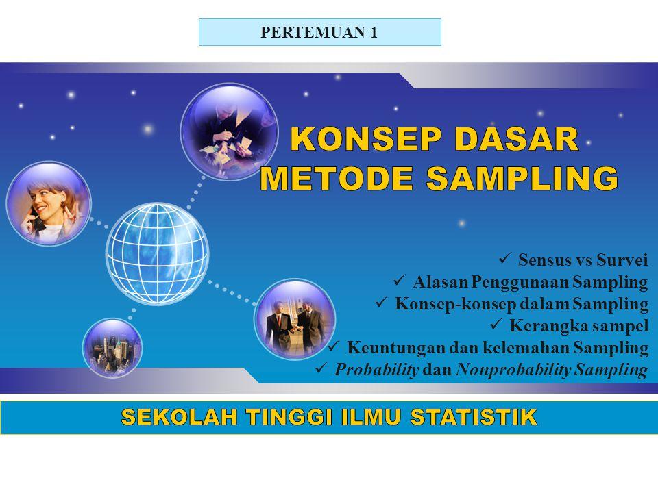 KONSEP DASAR METODE SAMPLING