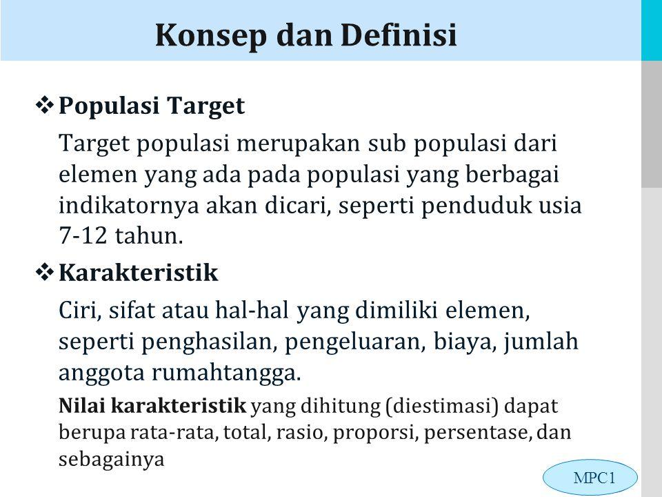 Konsep dan Definisi Populasi Target