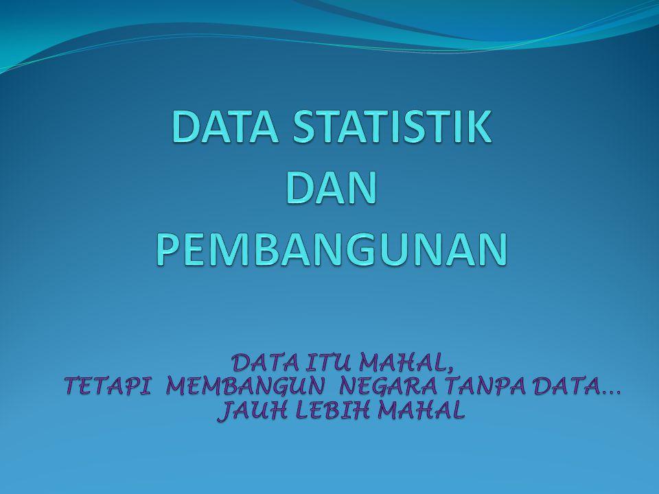 DATA STATISTIK DAN PEMBANGUNAN