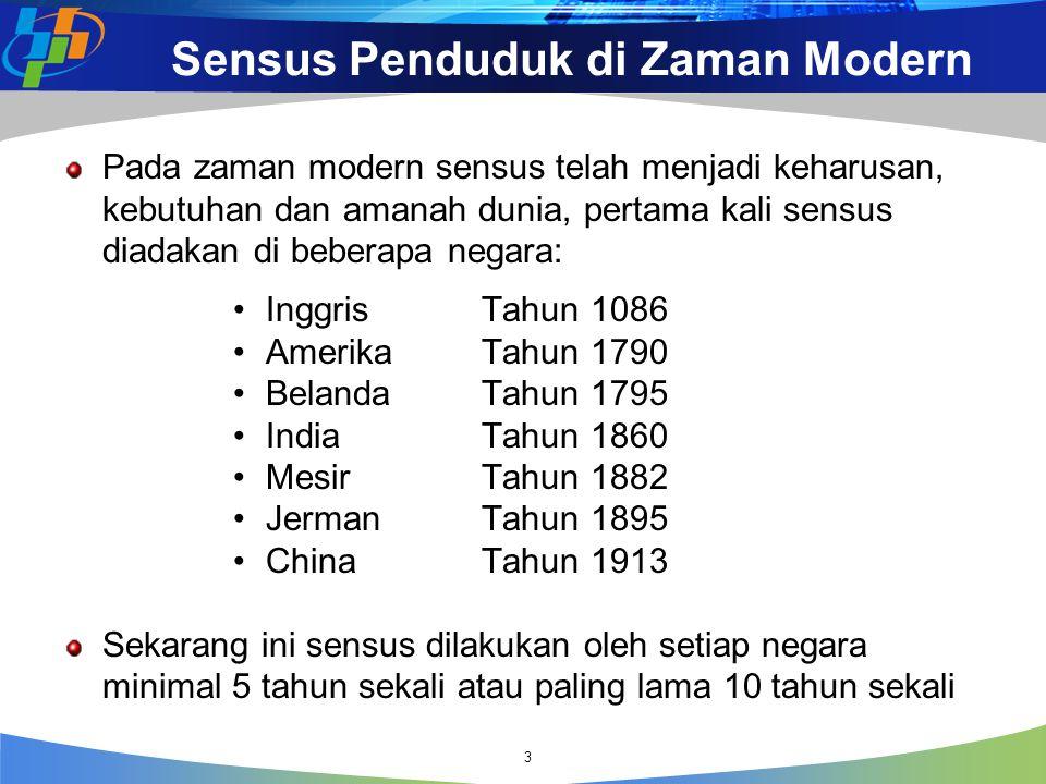 Sensus Penduduk di Zaman Modern