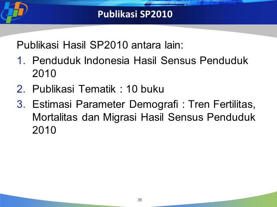Publikasi Hasil SP2010 antara lain: